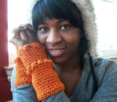 Tangerine WristWarmers