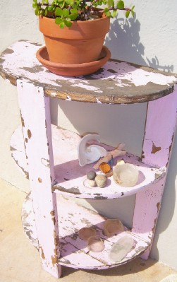 Pink Porch Shelf