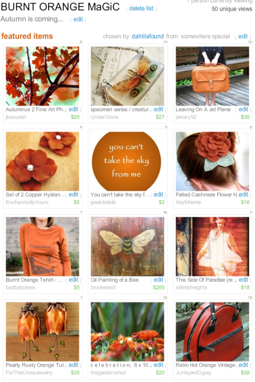 My Burnt Orange Treasury